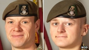 Sgt Gareth Thursby (left) and Pte Thomas Wroe