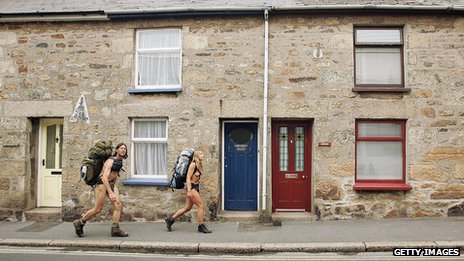 Naked rambler and friend in Cornwall