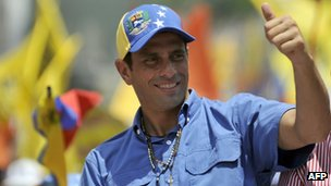 Henrique Capriles  in San Carlos, Cojedes state, on 4 October