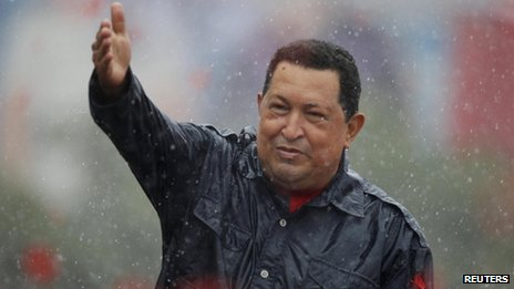 Hugo Chavez in his final rally, 4 Oct, Caracas