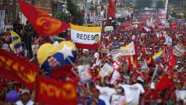 Chavez rally, Valencia, Venezuela, 3 Oct 2012