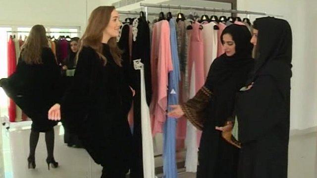 Women in abaya