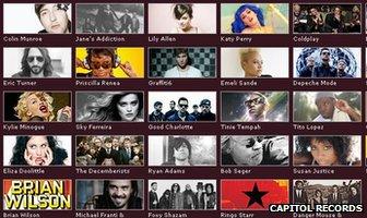 Capitol Records artists