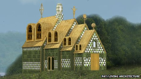 Artist&#039;s impression of the Grayson Perry/FAT house in Wrabness, Essex