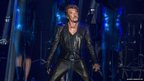 Legendary French singer Johnny Hallyday performs in concert