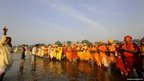 Hindu devotees offer prayers