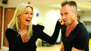 Denise Van Outen and James Jordan