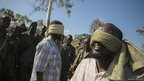 Blindfolded men captured in Kismayo believed to be al-Shabab members - Wednesday 3 October 2012