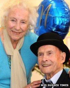 Bernard Holden with Dame Vera Lynn