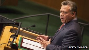 King Abdullah of Jordan addresses the UN General Assembly, 25 September 2012