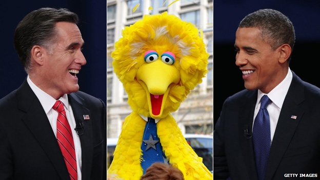 Mitt Romney, Big Bird and Barack Obama