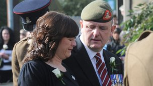 Claire and Michael Wroe, Pte Thomas Wroe's parents