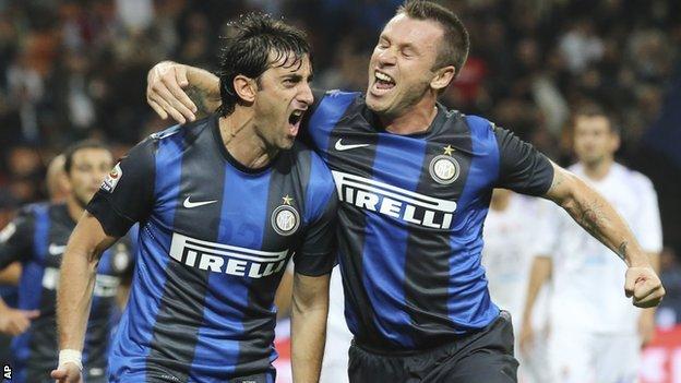 Milito and Cassano