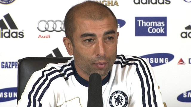 Chelsea boss Roberto Di Matteo