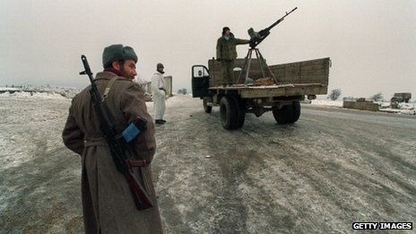 Chechen soldiers in the 1994 war