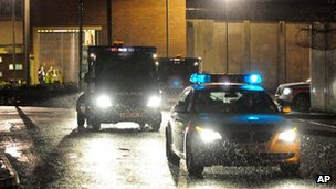Police convoy en route to Suffolk