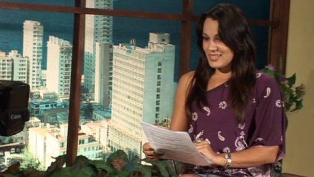 Cuban state tv presenter