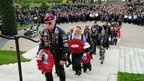 Crowds at the National Memorial Arboretum for the fifth Ride To The Wall