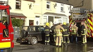 The fire started in a terraced house in Warrenpoint