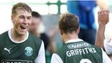 David Wotherspoon celebrates Hibs' third goal