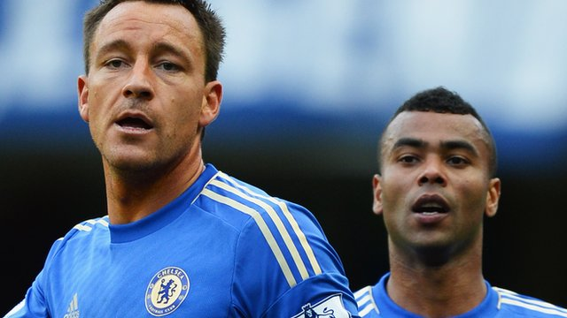 (L-R) John Terry and Ashley Cole