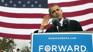 Obama in Cleveland Ohio - 5 oct