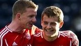 Aberdeen duo Jonny Hayes and Ryan Fraser