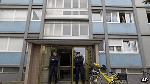 Building in Strasbourg where suspect was shot dead. 6 Oct 2012