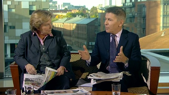 Sandi Toksvig and Andrew Pierce