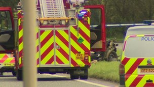 Two vehicles were involved in the accident on the A1 road