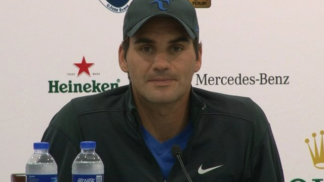 World tennis number one Roger Federer