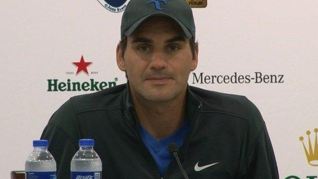 World tennis number one Roger Federer