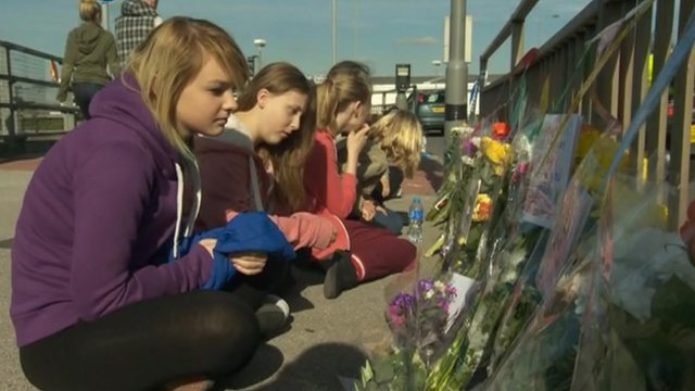Tributes at crash scene