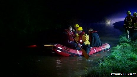 inflatable boat used in stranded rescue