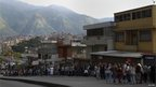 Queue outside polling station in Caracas (7 Oct)