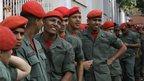 National Guardsmen wait to vote, Caracas (7 Oct)