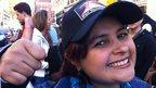 Venezuelan voter Rebecca Ayana in London (7 Oct)