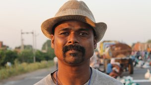 Kumar Koijor from the Oram tribal community in Orissa