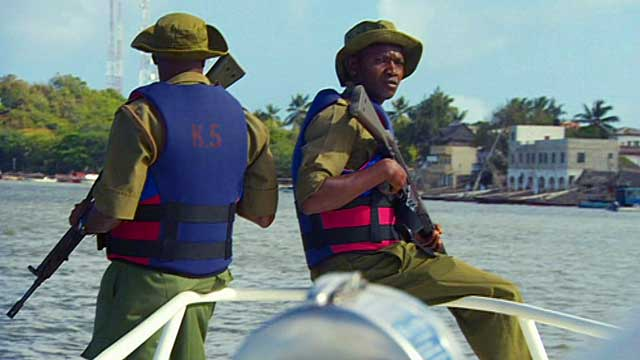 An armed patrol in Lamu