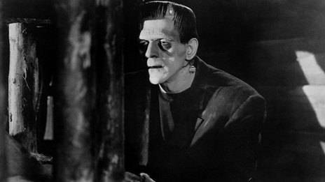 Boris Karloff in in a scene from the 1931 classic film Frankenstein