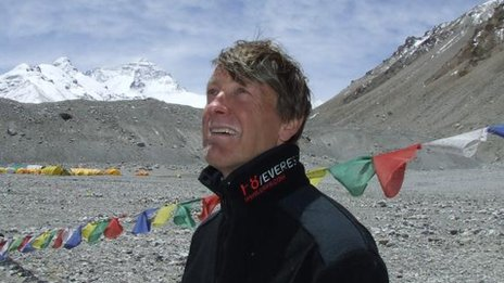 Graham Hoyland at Mount Everest