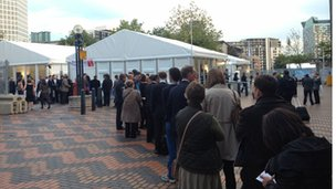 Tory fringe meeting queue