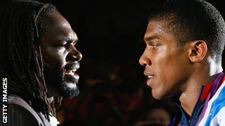 Audley Harrison and Anthony Joshua