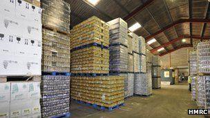 Kevin Burrage's warehouse was used in a £50m a year alcohol scam