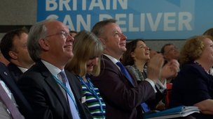 Michael Gove applauds