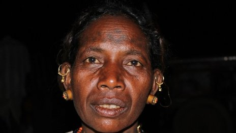 Fuishi Bai of the Baiga tribal community in Madhya Pradesh, India 