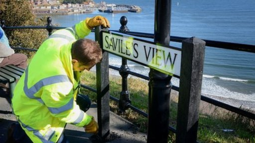 Savile street sign in Scarborough