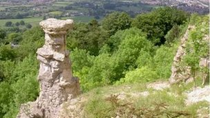 The Devil's Chimney on Leckhampton Hill