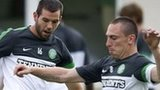 Celtic midfielders Joe Ledley and Scott Brown