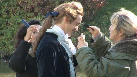 Filming for Belle